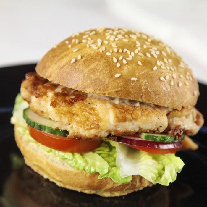 Kongekrabbeburger